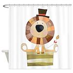 Circus Animals Lion Shower Curtain