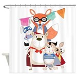 Forest Animal Super Heroes Shower Curtain