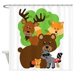 Woodland Forest Animals Shower Curtain