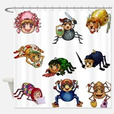 Spiderling Chronicles Shower Curtain