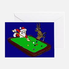 Santa and Rudolph Greeting Card