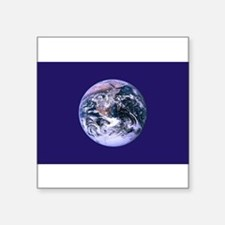 Planet Earth Rectangle Sticker