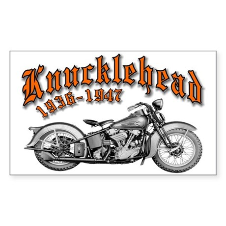 Knucklehead Rectangle Sticker
