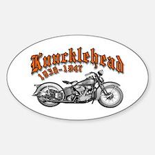 Knucklehead Oval Decal