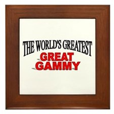 """""""The World's Greatest Great Gammy"""" Framed Tile"""