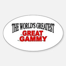 """The World's Greatest Great Gammy"" Oval Decal"
