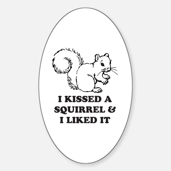 Cute Funny squirrel Sticker (Oval)