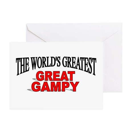 """""""The World's Greatest Great Gampy"""" Greeting Cards"""