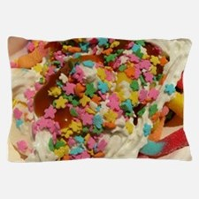 sundae with gunni worms, sprinkles, wh Pillow Case