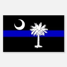 South Carolina Police Rectangle Decal