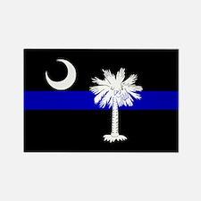 South Carolina Police Rectangle Magnet