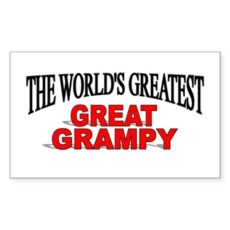 """The World's Greatest Great Grampy"" Sticker (Recta"