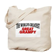 """The World's Greatest Great Grampy"" Tote Bag"