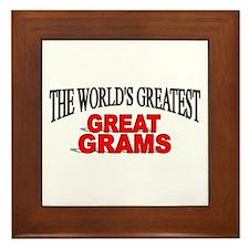 """""""The World's Greatest Great Grams"""" Framed Tile"""