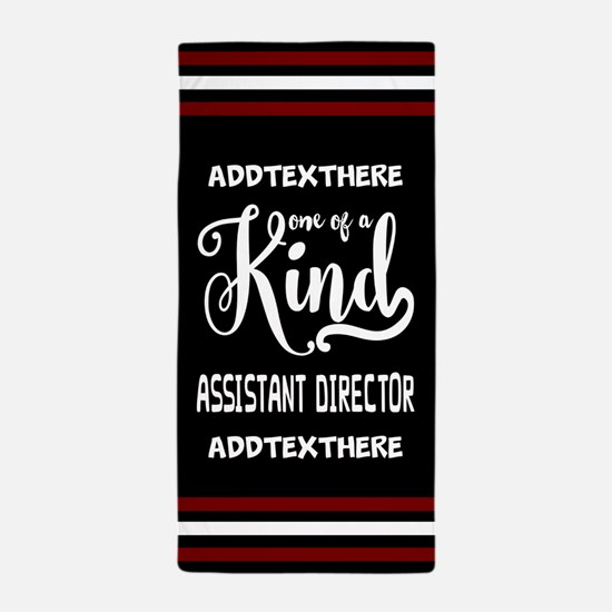 Personalized Gift for Assistant Direct Beach Towel