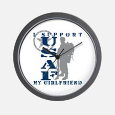 I Support Girlfriend 2 - USAF Wall Clock