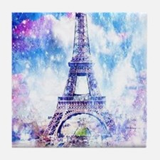 Rainbow Universe Paris Tile Coaster