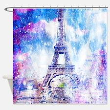 Rainbow Universe Paris Shower Curtain