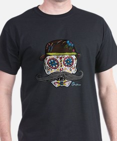Cute Mustache sugar skull T-Shirt