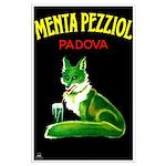 Menta Pezziol Padova Aperitif Liquor Poster