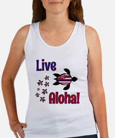 Live Aloha! Hawaii Women's Tank Top