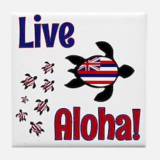 Live Aloha! Hawaii Tile Coaster