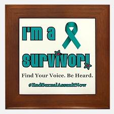 I'm a Survivor... Framed Tile