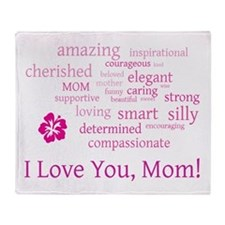 I Love you, Mom! Throw Blanket