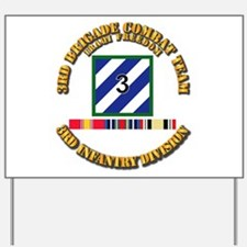 3rd BCT, 3rd ID - OIF w Svc Ribbons Yard Sign