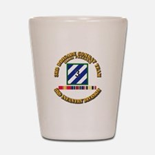 3rd BCT, 3rd ID - OIF w Svc Ribbons Shot Glass