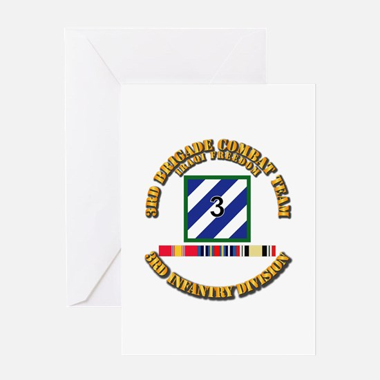 3rd BCT, 3rd ID - OIF w Svc Ribbons Greeting Card