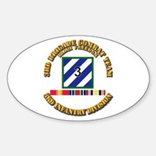 3rd BCT, 3rd ID - OIF w Svc Ribbons Decal