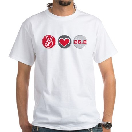 Peace Love Run 26.2 T-Shirt