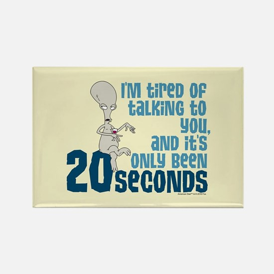 American Dad 20 Seconds Rectangle Magnet