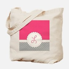 Cute Monogram Letter L Tote Bag