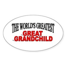 """""""The World's Greatest Great Grandchild"""" Decal"""