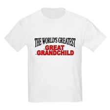 """The World's Greatest Great Grandchild"" T-Shirt"