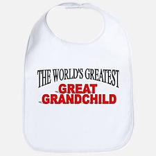 """The World's Greatest Great Grandchild"" Bib"