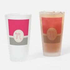Cute Monogram Letter M Drinking Glass