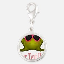 Frog in Pink Sunglasses Custom Charms