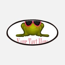 Frog in Pink Sunglasses Custom Patch