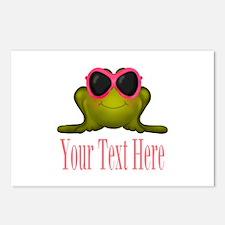 Frog in Pink Sunglasses Custom Postcards (Package