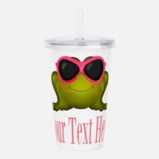 Frog in Pink Sunglasses Custom Acrylic Double-wall