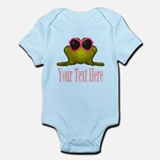 Frog in Pink Sunglasses Custom Body Suit