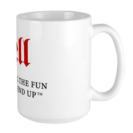 Hell - For fun people Large Mug