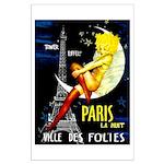 Paris La Nuit Ville des Folies Poster