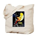 Paris La Nuit Ville des Folies Tote Bag