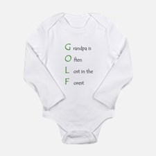 Grandpa Golf Infant Creeper Body Suit