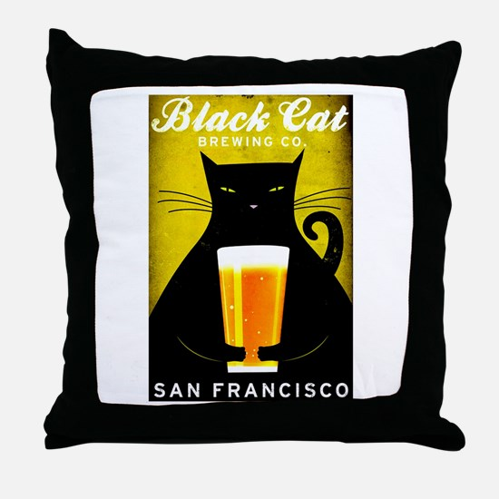 Black Cat Brewing Co. Throw Pillow