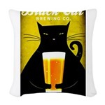 Black Cat Brewing Co. Woven Throw Pillow